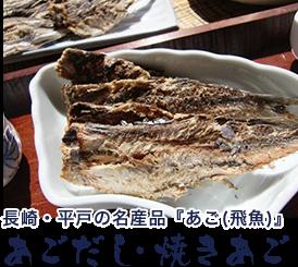 長崎・平戸の名産品『あご(飛魚)』あごだし・焼きあご